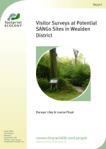 Liley and Floyd - 2013 - Visitor surveys at potential SANGs sites in Wealde