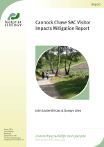 Underhill-Day - Liley 2012 - Cannock Chase SAC Visitor Impacts Mitigation report